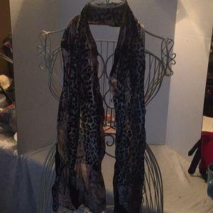 Leopard print scarves
